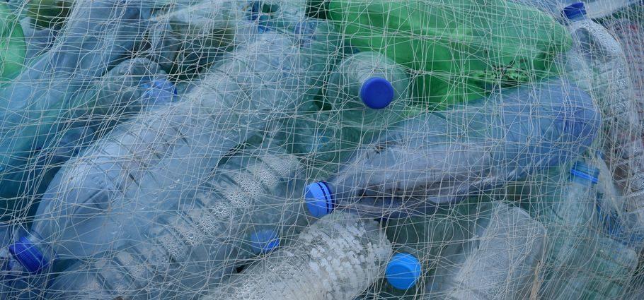Śmieci butelki PET