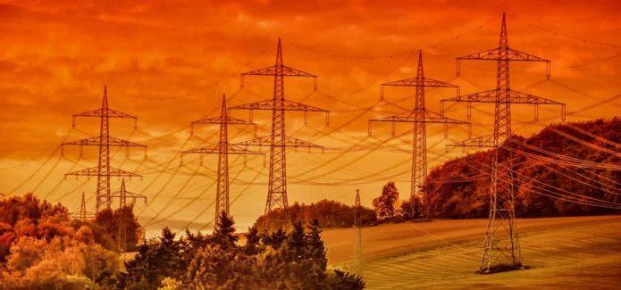 prąd słupy