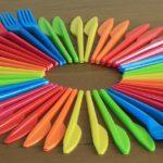 plastikowe nożyki i widelczyki