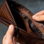 pieniądze pusty portfel