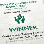 Grupa Azoty ZAK laureatem European Responsible Care